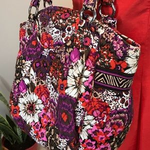 Vera Bradley Weekend Quilted Bag Purse Large